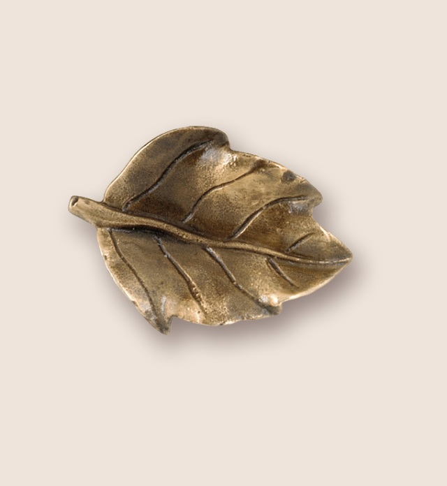 pear leaf pull from Martin Pierce custom hardware