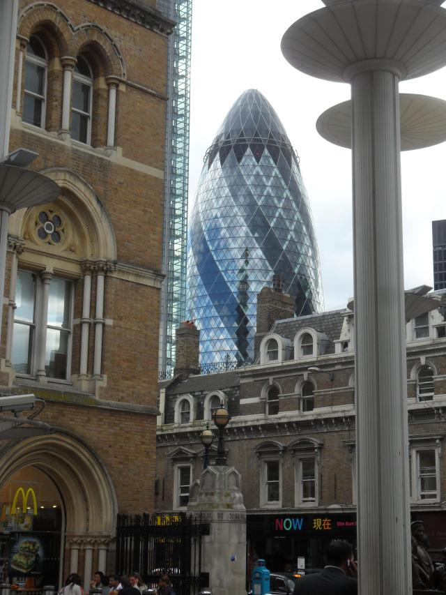 Gherkin Building in London.  Photo taken by Martin Pierce Hardware Los Angeles Ca  90016