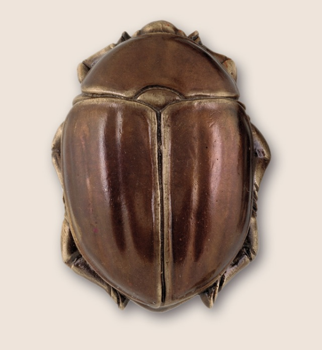 Beautiful in its own right, this scarab beetle pull from Martin Pierce Hardware is certainly creepy as well.