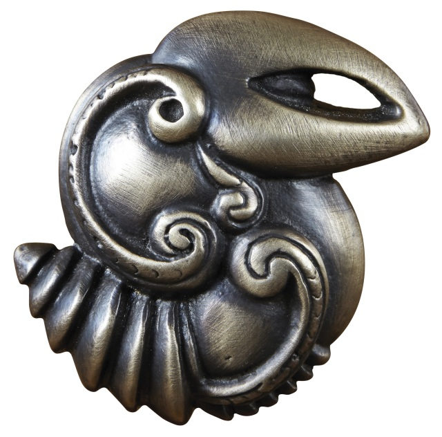 Hawaiian bird knob from the Hawaiian custom hardware collection of Martin Pierce hardware