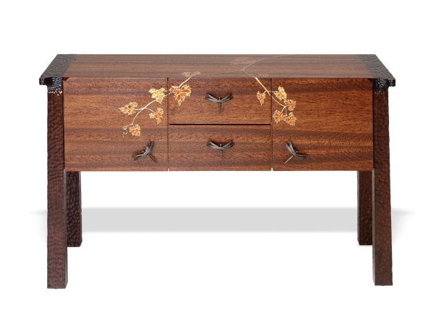 Limited edition Ascot sideboard with vine japanning detail from Martin Pierce Custom Hardware