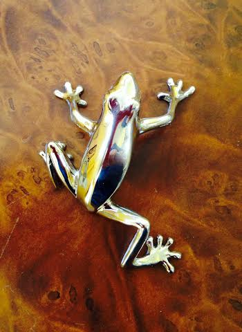 Frog pull in polished nickel Martin Pierce Hardware