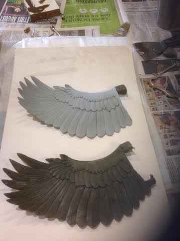 grey pieced is wax mold