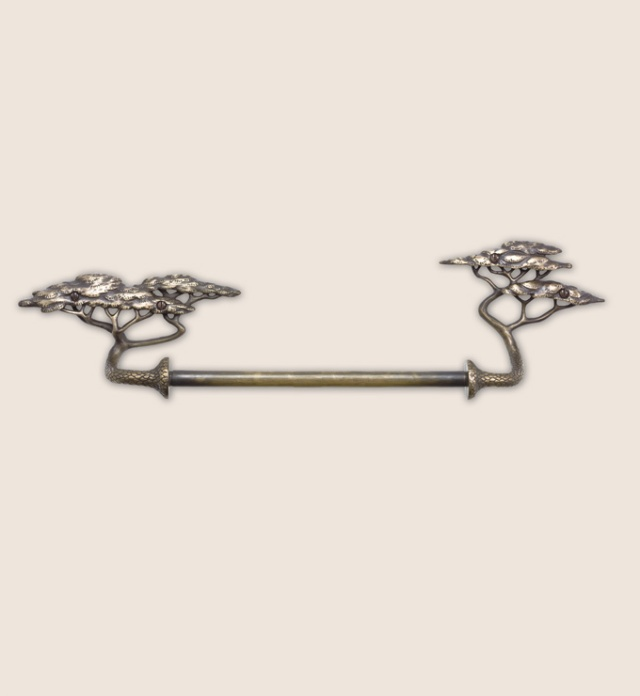 Beautifully detailed towel bar from Martin Pierce Hardware