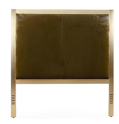 Brass headboard from Taylor Burke Home