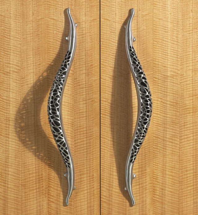 Heroic door pull from Morphic collection at Martin Pierce hardware Los Angeles CA  90016