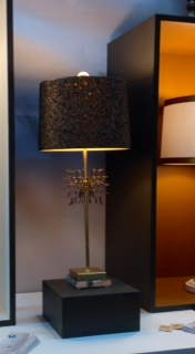 Lamp with open work shade by Van teal and shown at the 2015 HD Expo Martin Pierce Hardware Los Angeles CA  90016